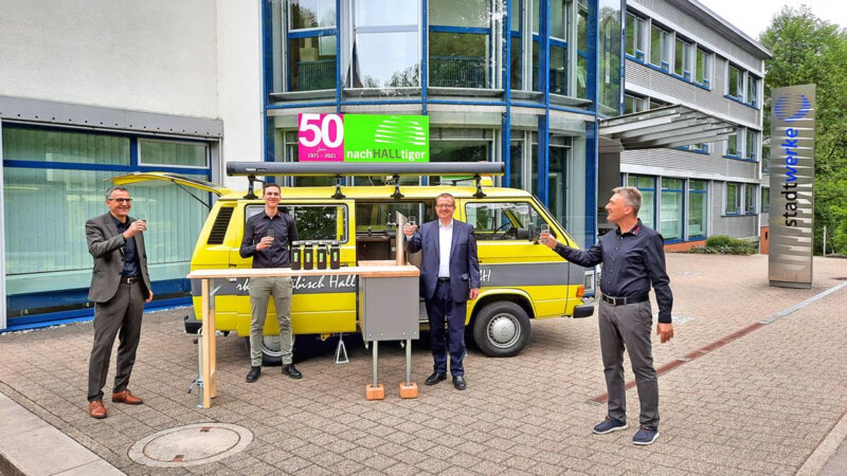 Ehemaliger Kabelmesswagen wird Event-Mobil der Stadtwerke Schwäbisch Hall GmbH